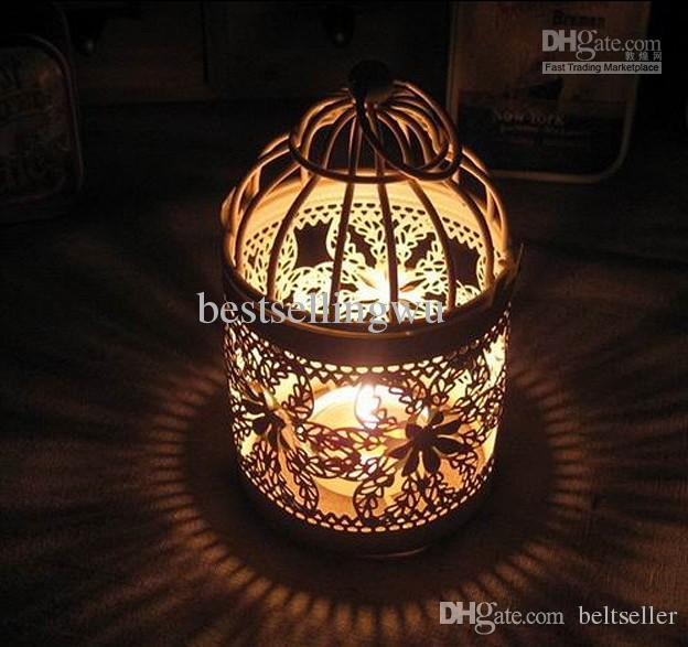 Bird Cage Candle Holders Weddings Lantern Iron Holder Round Shape Wedding Favors Home Decor Decorations Supply