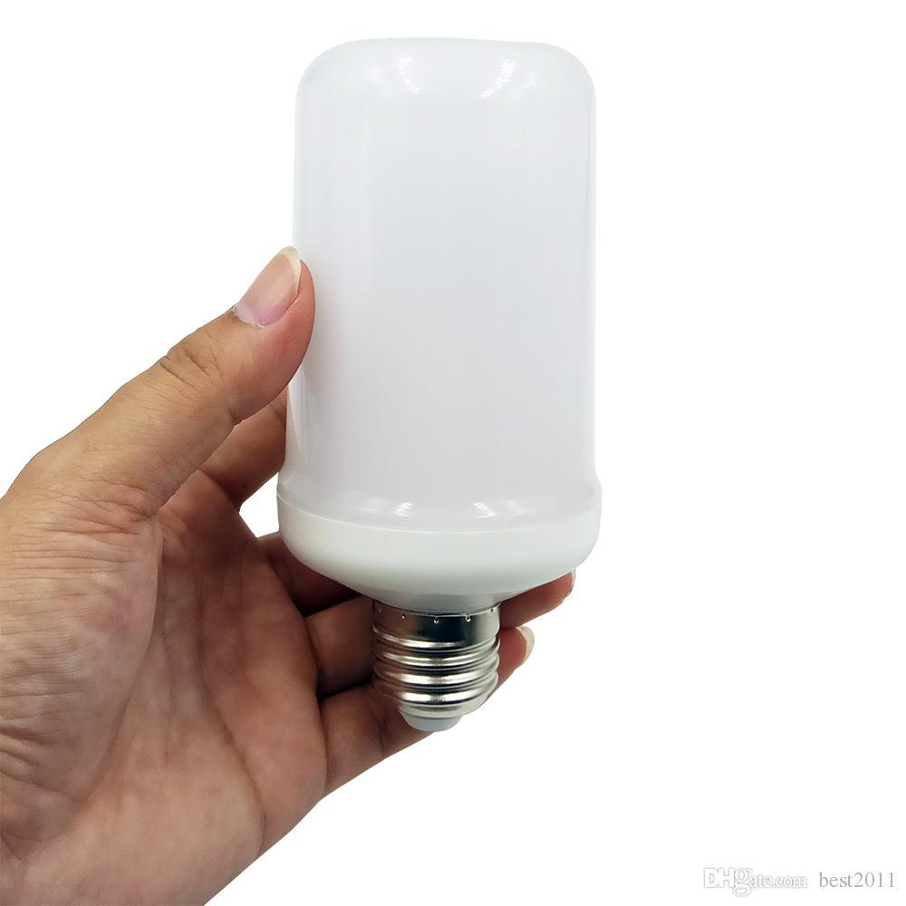 E27 E26 2835 LED Chama Efeito Fogo lâmpadas 7W 9W criativas Luzes Lamp cintilação Emulação Atmosfera lâmpadas decorativas
