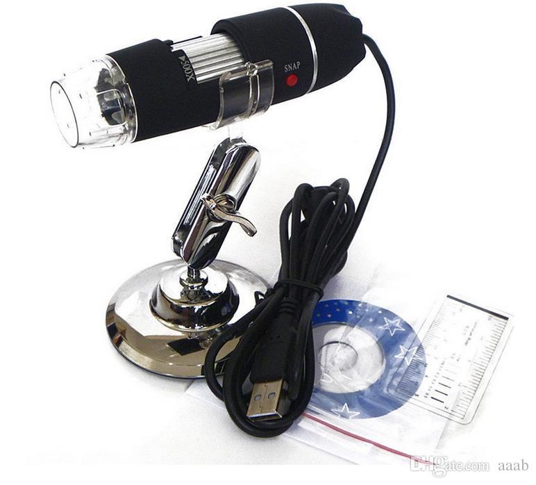 2016New Portable USB 500MP Digital microscopio dell'endoscopio Magnifier videocamera di alta qualità Brand New