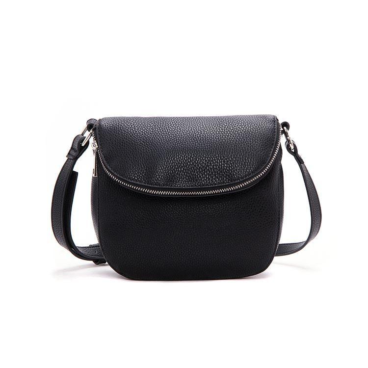 New Long Strap Leather Cute Shoulder Bags For Women Casual Girls Small Handbags Men Female Black