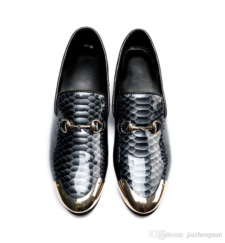 2017 neue stil Marke business casual herren lederschuhe krokodil korn lackleder herrenschuh Britischen zeigte bis herren lederschuhe M369