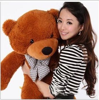 "new 6.3 FEET TEDDY BEAR STUFFED LIGHT BROWN GIANT JUMBO 72"" size:160cm birthday gift"
