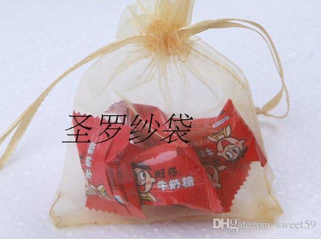 Wholesale-es para elegir el regalo de boda de lujo Organza Favor de boda Bolsas de regalo de Navidad Bolsas de joyas 7x9cm 120402-120413