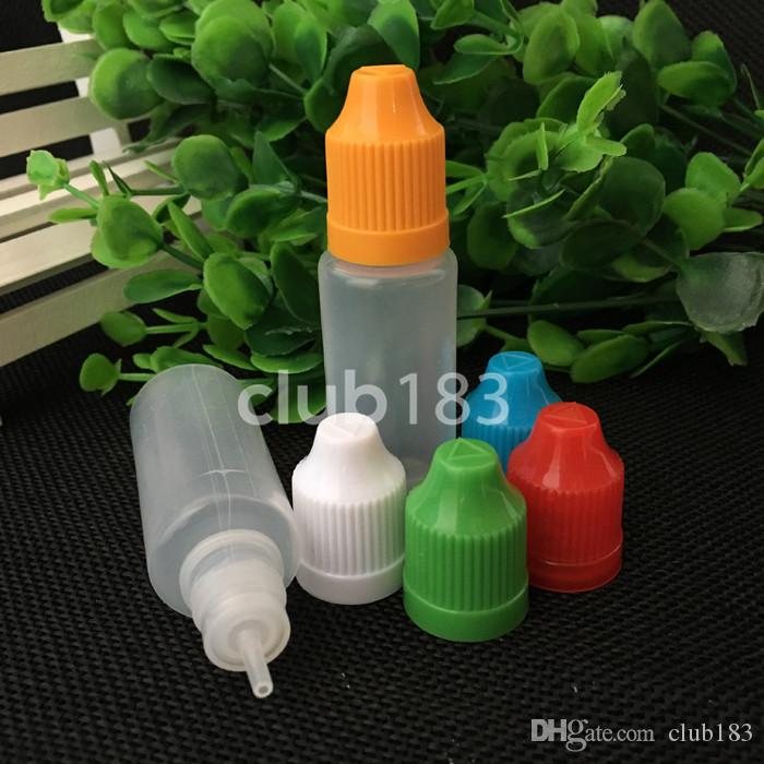 Fast Shipping Soft Style Needle Bottle 15ml Plastic Dropper Bottles Child Proof Caps LDPE E Cig E Liquid Empty Bottle large stock