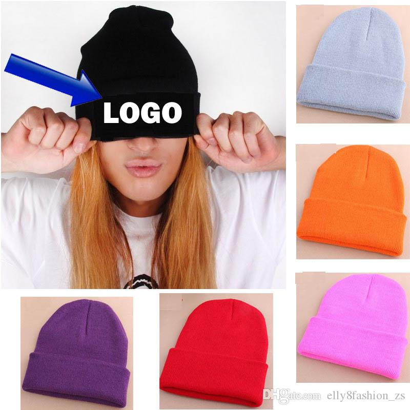 9dd70fa6f8b Free Blank Sample Beanie Adult Kids Custom Candy Color Hats Winter Logo  Embroidery Beanies Casual Warm Beanie Hip Hot Hats Cool Beanies Beanie Caps  From ...