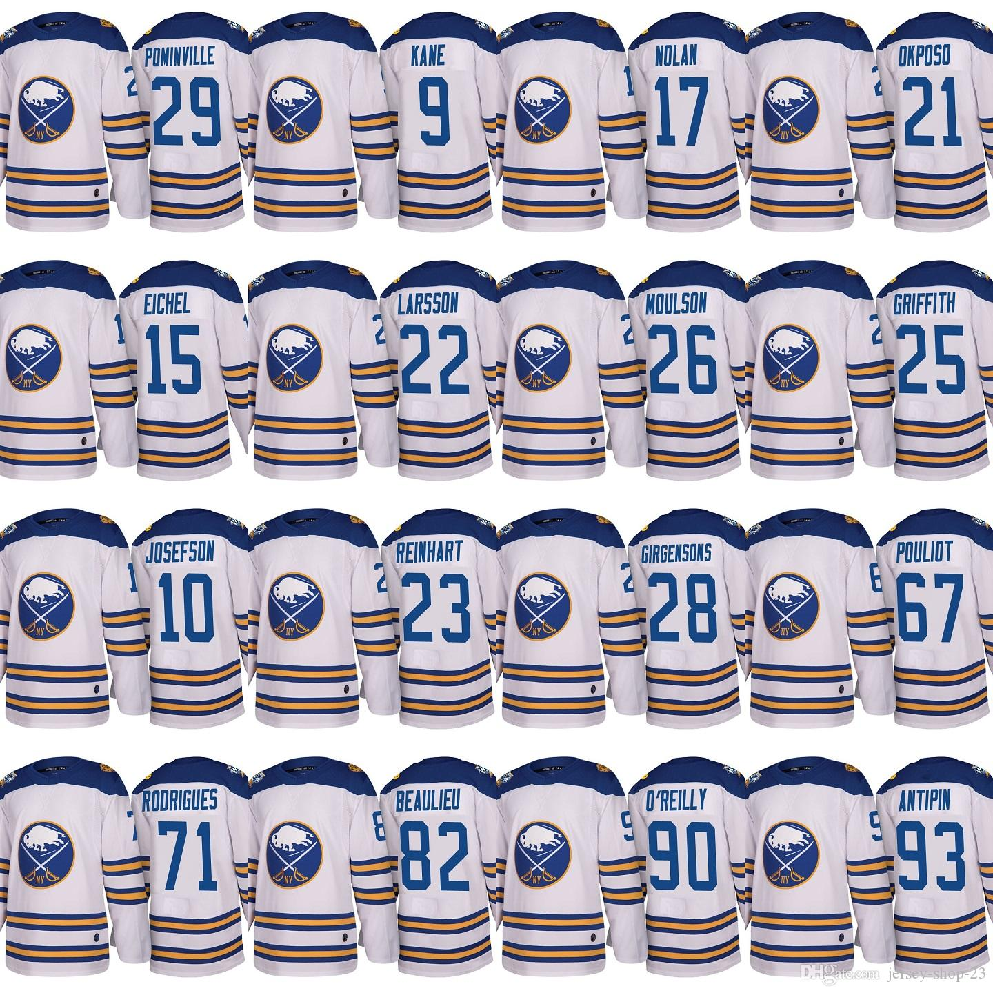 7d2c7275126 2019 White 2018 Winter Classic Buffalo Sabres 10 Jacob Josefson 21 Kyle  Okposo 28 Zemgus Girgensons 93 Victor Antipin Custom Hockey Jerseys From  Jersey Shop ...