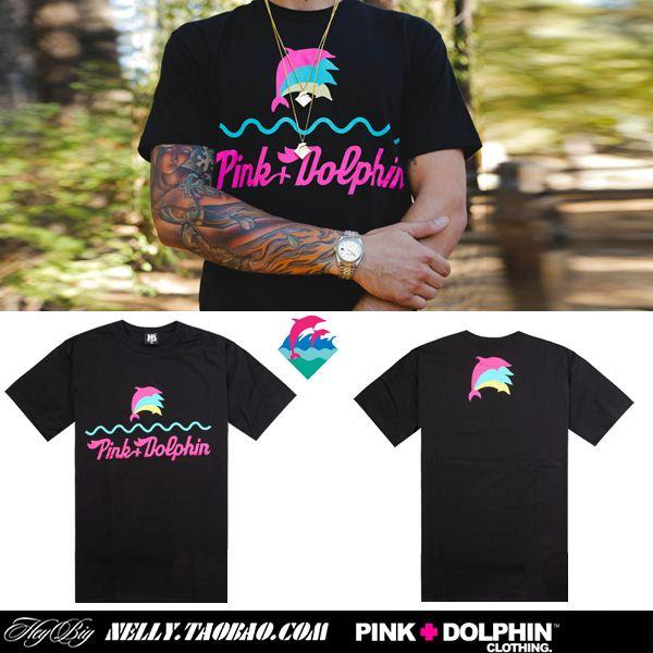 Men Pink Dolphin T Shirt Dolphins Casual Tees Tops Camisas Clothes ...