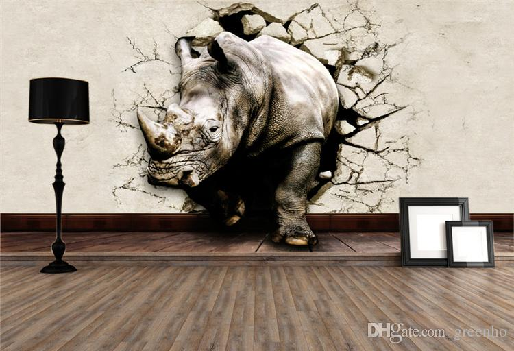 Cool 3d Large View Rhino Kung Fu Panda Elephant Lion