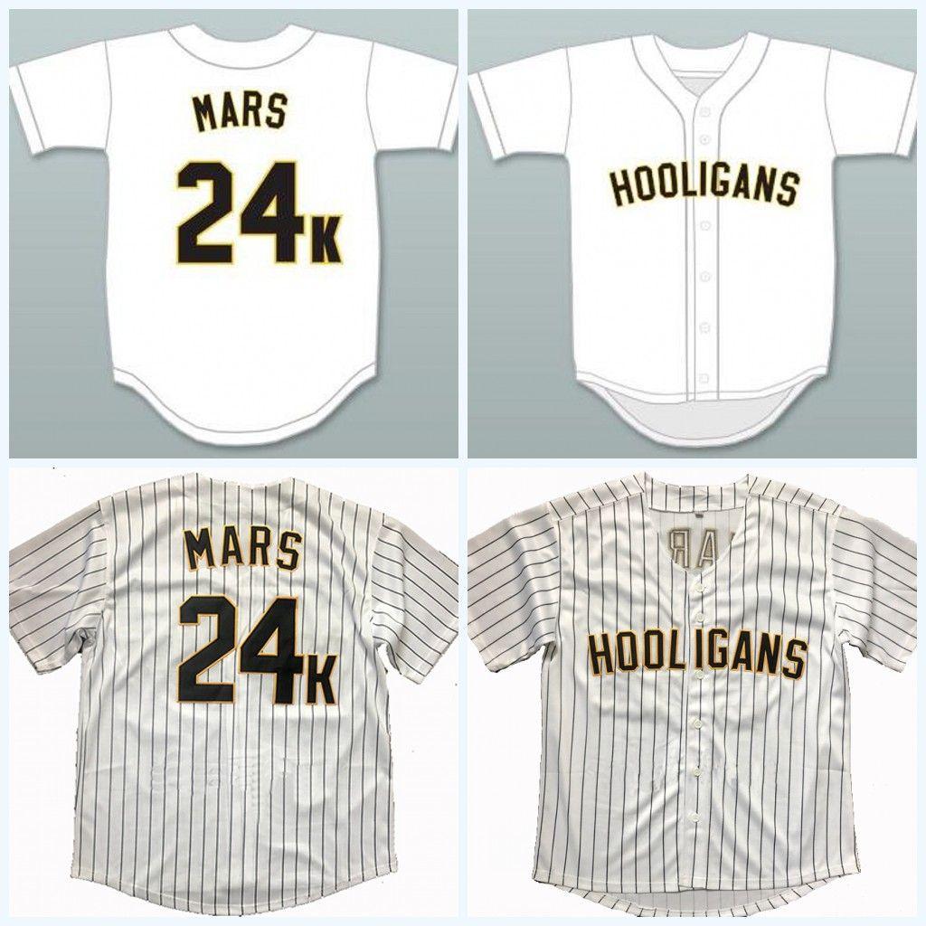 Mens Womens Youth 24K Bruno Mars Hooligans White Baseball Jersey BET Awards  Baseball Jerseys All Stitched UK 2019 From Projerseyworld 78fb038535