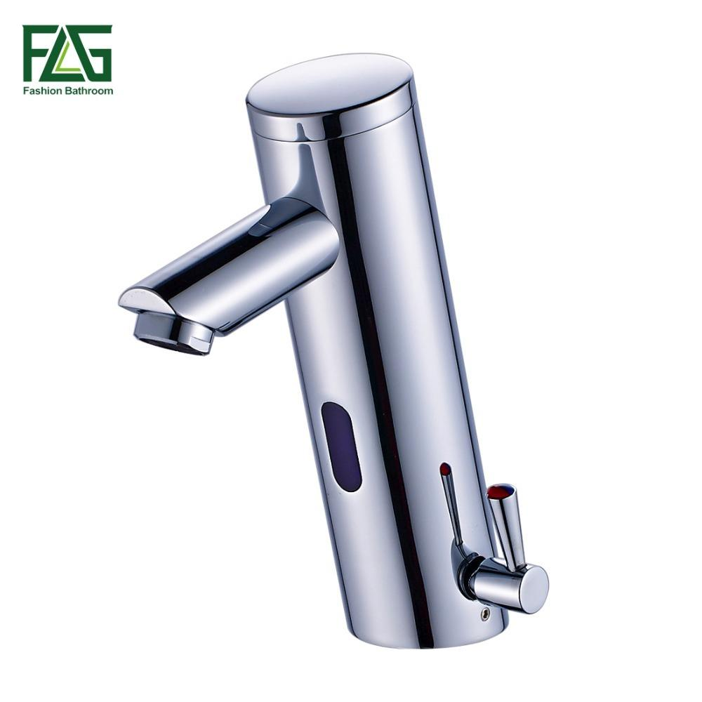 NEW Hot Cold Mixer Automatic Hand Touch Tap Hot Cold Mixer Battery ...
