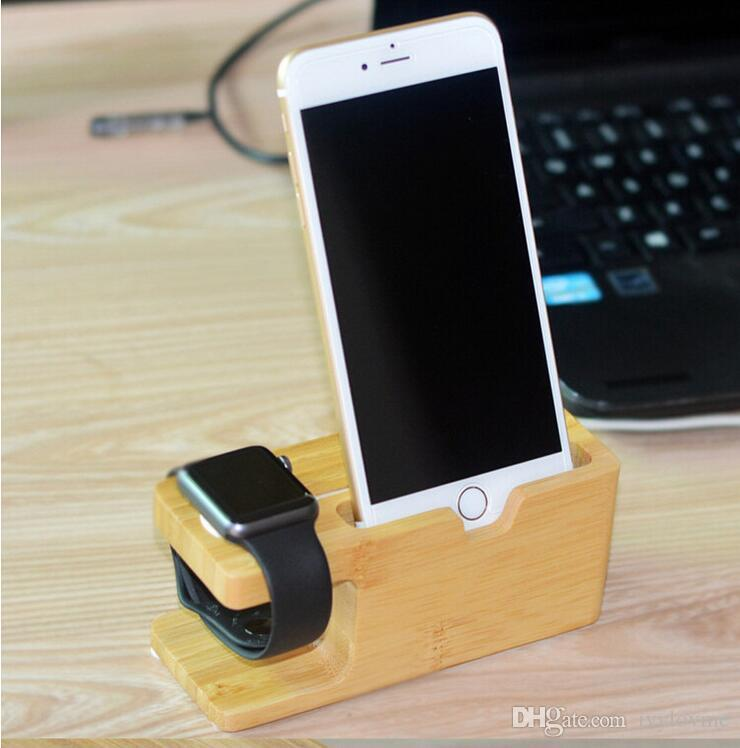 Portable Universal Wooden Phone Holder Stand Office Desk