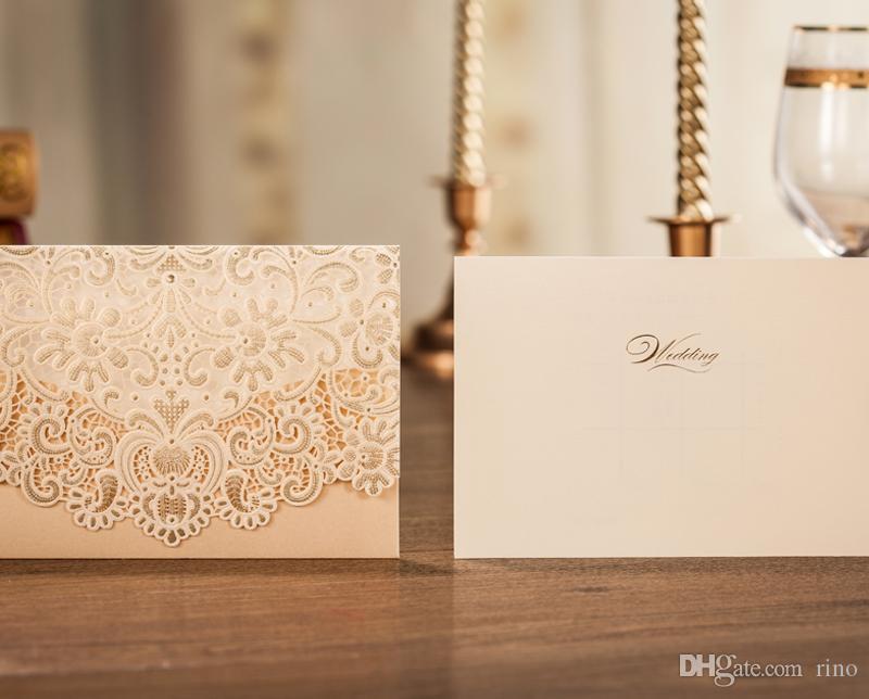 الجملة - بطاقة دعوة زفاف قابلة للطي بطاقة دعوة الزفاف الكورية قطع بطاقات دعوة زفاف جميلة