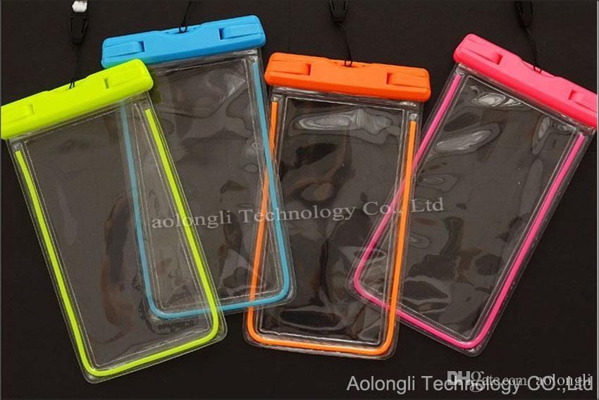 عالمي واضح للماء الحقيبة حقيبة مضيئة مقاوم للماء حقيبة غطاء تحت الماء مناسبة لجميع الهاتف المحمول 5.8 بوصة فون سامسونج