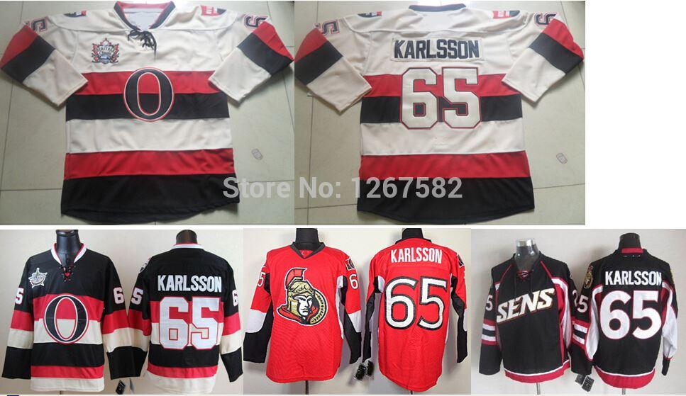 fb3f05339 2019 Wholesale Authentic Ottawa 65 Erik Karlsson Jersey Home Red 3rd Black  Cream 2014 Heritage Classic Beige Stitched Hockey Jerseys From Cn Sell