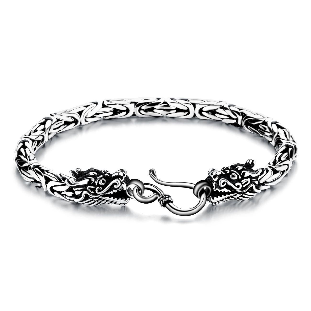 Authentic Retro Thai Silver Bracelets Men Domineering Trend Leading ...