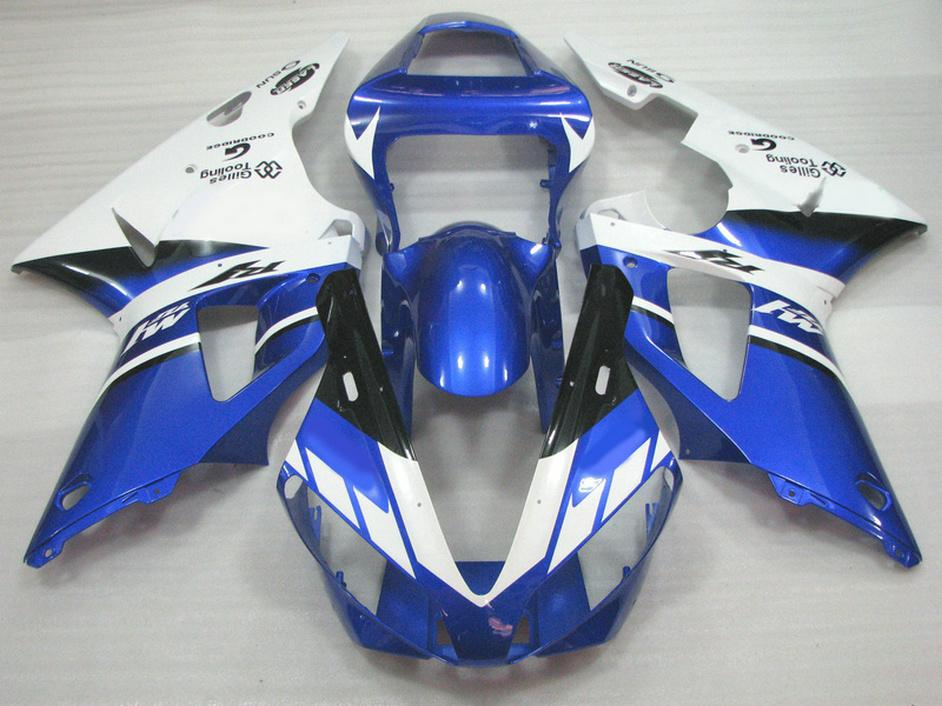 Высокое качество обтекатель комплект для YAMAHA 2000 2001 YZF R1 YZF1000 00 01 синий белый ABS обтекатели набор rq10 + 7 подарки