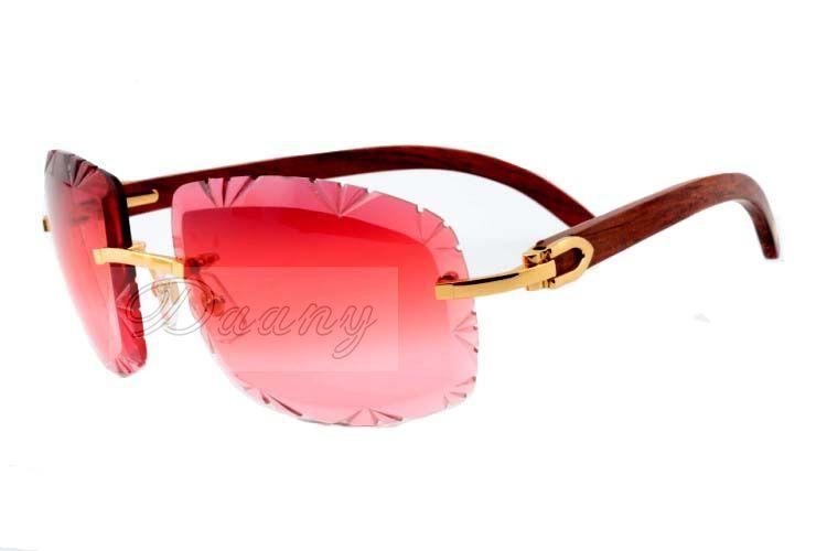 17 Factory Outlet Gafas de sol de alta calidad para grabado de alta calidad Jindian 8300075 Gafas de sol de patas de templo de madera natural, tamaño de gafas: 60-18-135