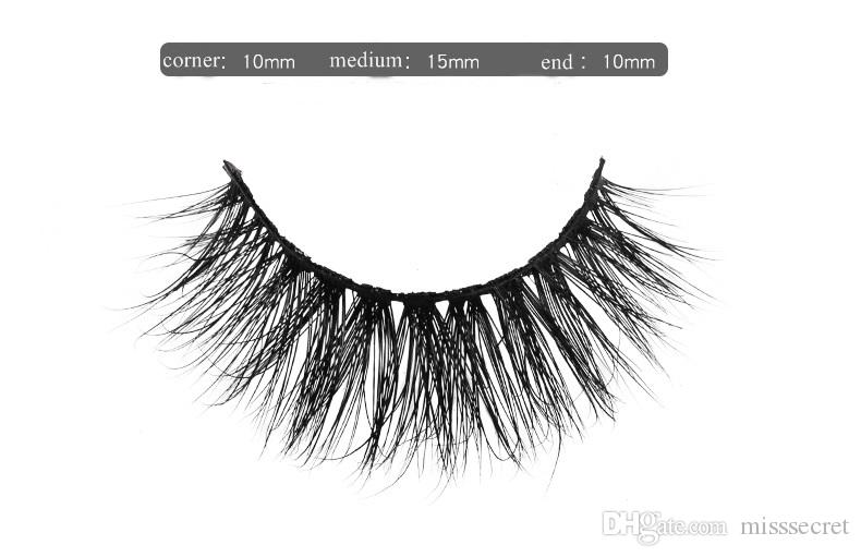 3D Nerz Wimpern Thick real Wimpern HAAR falsche Wimpern natürliche lange Kreuzung Auge Wimpern Auge Verlängerung gefälschte Wimpern mit Kleinkasten - 056