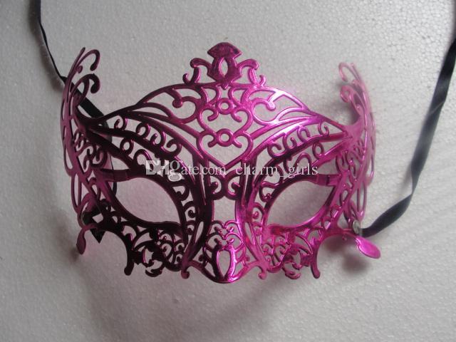 Hot vendas mix cores Venetian Filigrana Mask Masquerade Bola Mascarada Oco Eyemask Prom Halloween 10 pçs / lote