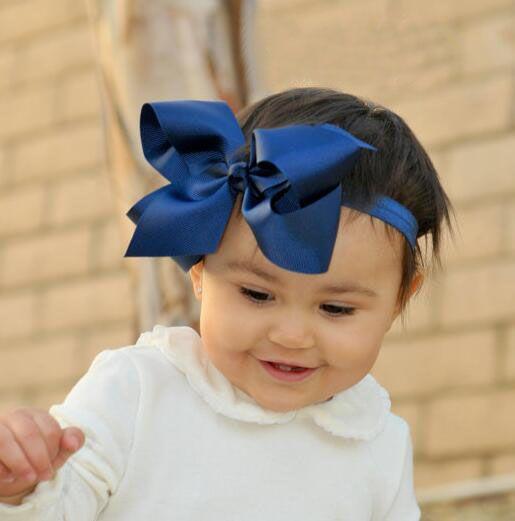 5 pouillons à cheveux Bandeau Bandeau Bandeau Enfants GROSGRAIN Ruban Ruban Elastic Hairband Headwear Bowknot pour Baby Girls Accessoires de cheveux / ODM OEM