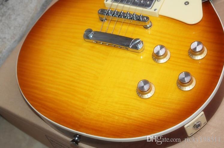 Promozione calda NUOVA chitarra della fabbrica della Cina Chitarra elettrica esclusiva esclusiva Chitarra elettrica selezionata di alta qualità di mogano