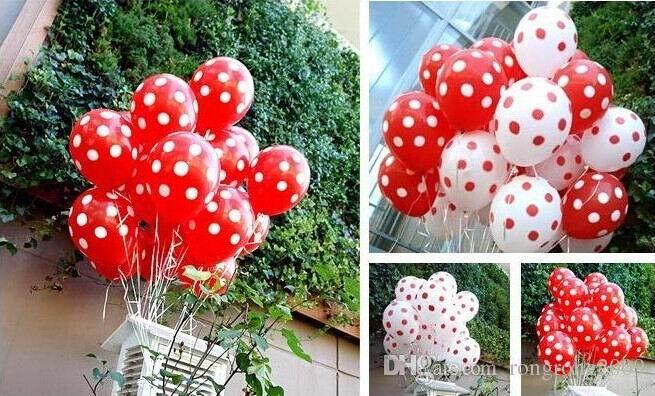 12 Zoll Latex Polka Dot Dicke Party Ballon Geburtstag Party Hochzeit Dekoration Lieferungen Kinder Geschenk Spielzeug 25002