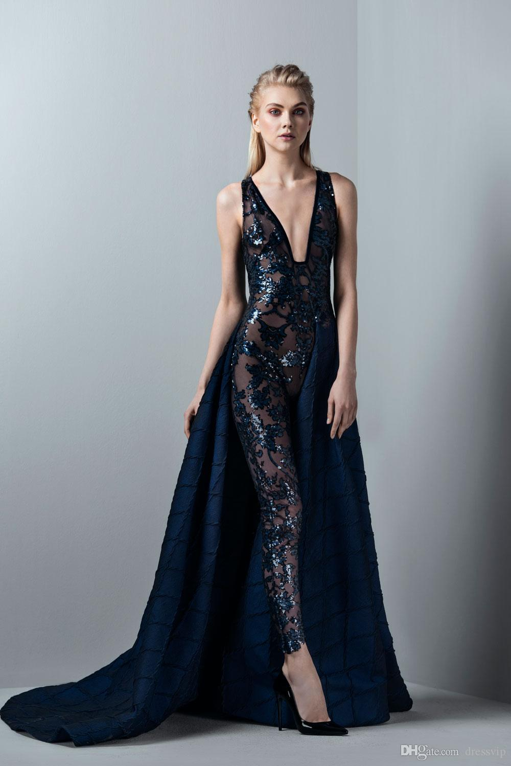 Ziad Nakad Black Prom Dresses A Line Luxury Feathers Off The Shoulder Lace  Appliqued Beads Quinceanera Dresses Evening Party Wear Formal c13cdf2222