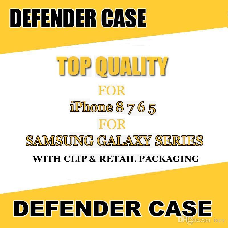 2018 Горячая распродажа для Samsung Defender телефон клип чехол противоударный гибридный чехол для Samsung Note 5 Galaxy S7 S7 Edge S6 S5 с розничной упаковке