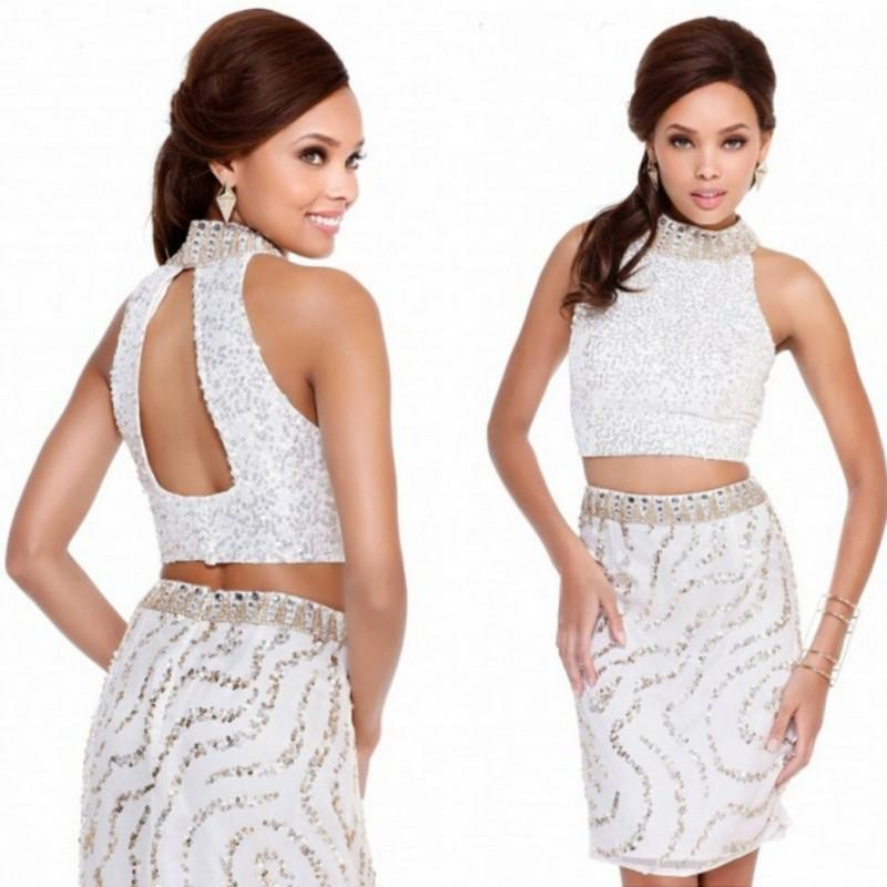 2015 Sexy Sequin Dress White Short Cocktail Dresses Shail K Sheath ...