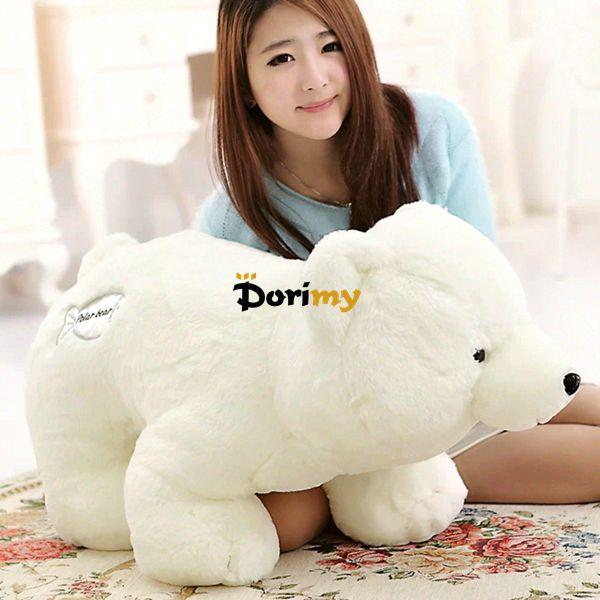 Dorimytrader Hot 28'' / 70cm Large Cute Giant Stuffed Soft Plush Animal Polar Bear White Bear Toy, Nice Baby Gift, Free Shipping DY60206