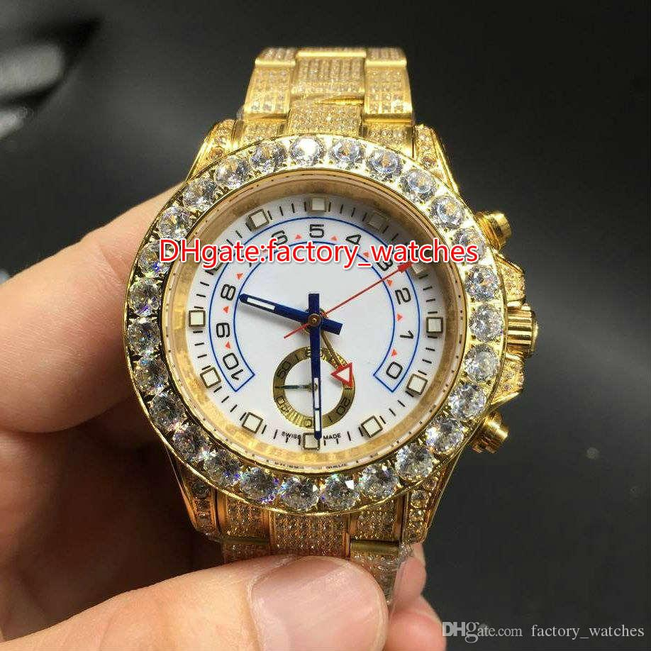 High quality full iced out gold case watch huge diamonds for Rapper watches
