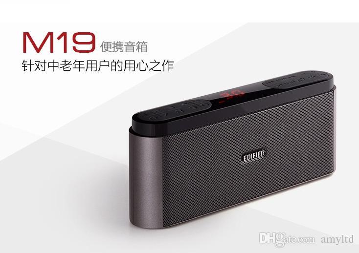 Edifier M19 المتحدث بطاقة المحمولة المتكلم مصغرة TF محرك فلاش المتكلم مصغرة مع راديو FM الصوت دعم مشغل MP3 بطاقة TF