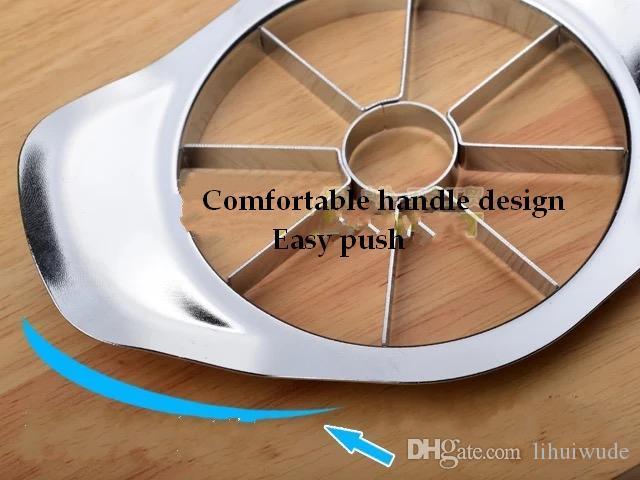 Apple Slicer, Corer, 커터, Wedger, 분배기 - 8 개의 스테인레스 스틸 블레이드