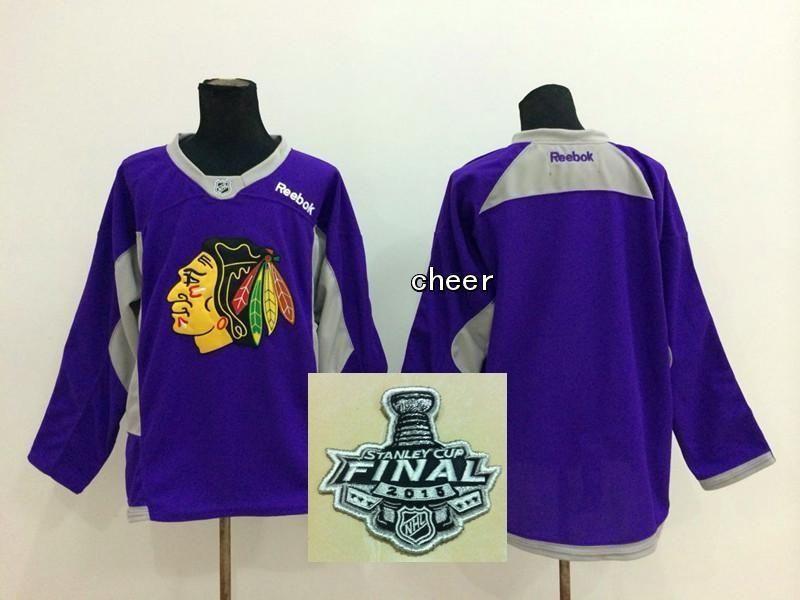Newest Wholesale Men s Chicago Blackhawks Blank Purple Red Practice ... cde1de801