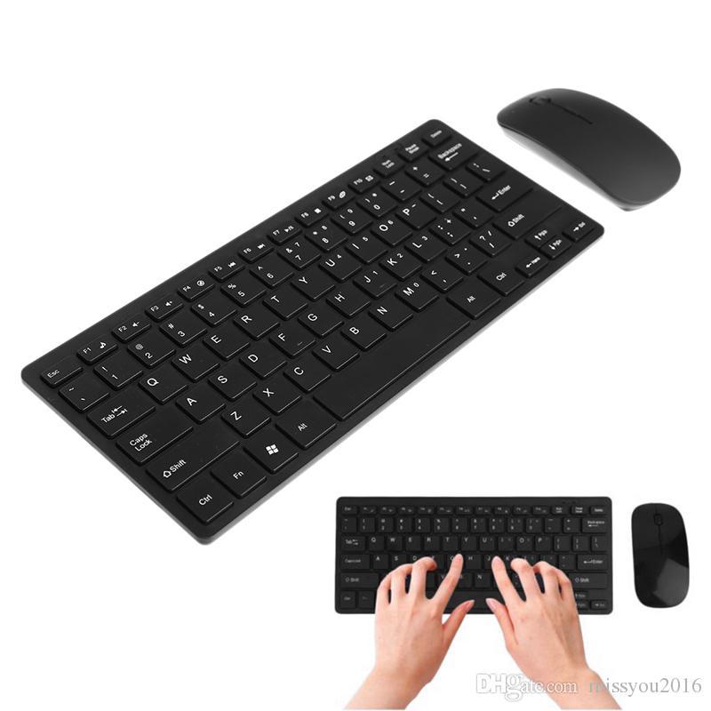 6801ac9f6cf Hot Wireless Keyboard Mouse Combo 2.4GHz Mini Keyboard Ultra-Thin ...