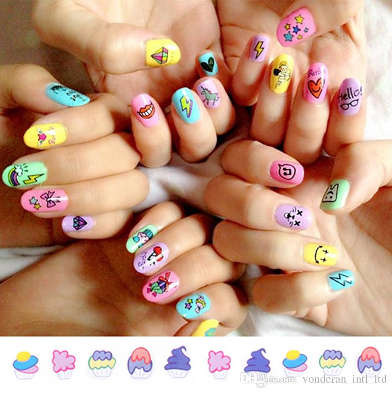 Stereo water transfer nail stickers nail stickers Harajuku 3D Nail Art Transfer Stickers Design Manicure Tips Decal Decorations 100pcs