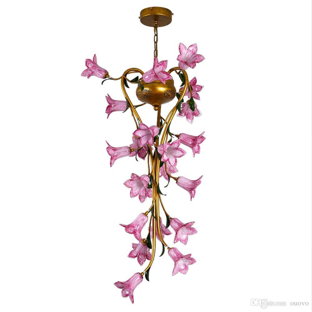 Luxury American Crystal Living Room Branch Pendant Lamp Modern Hotel
