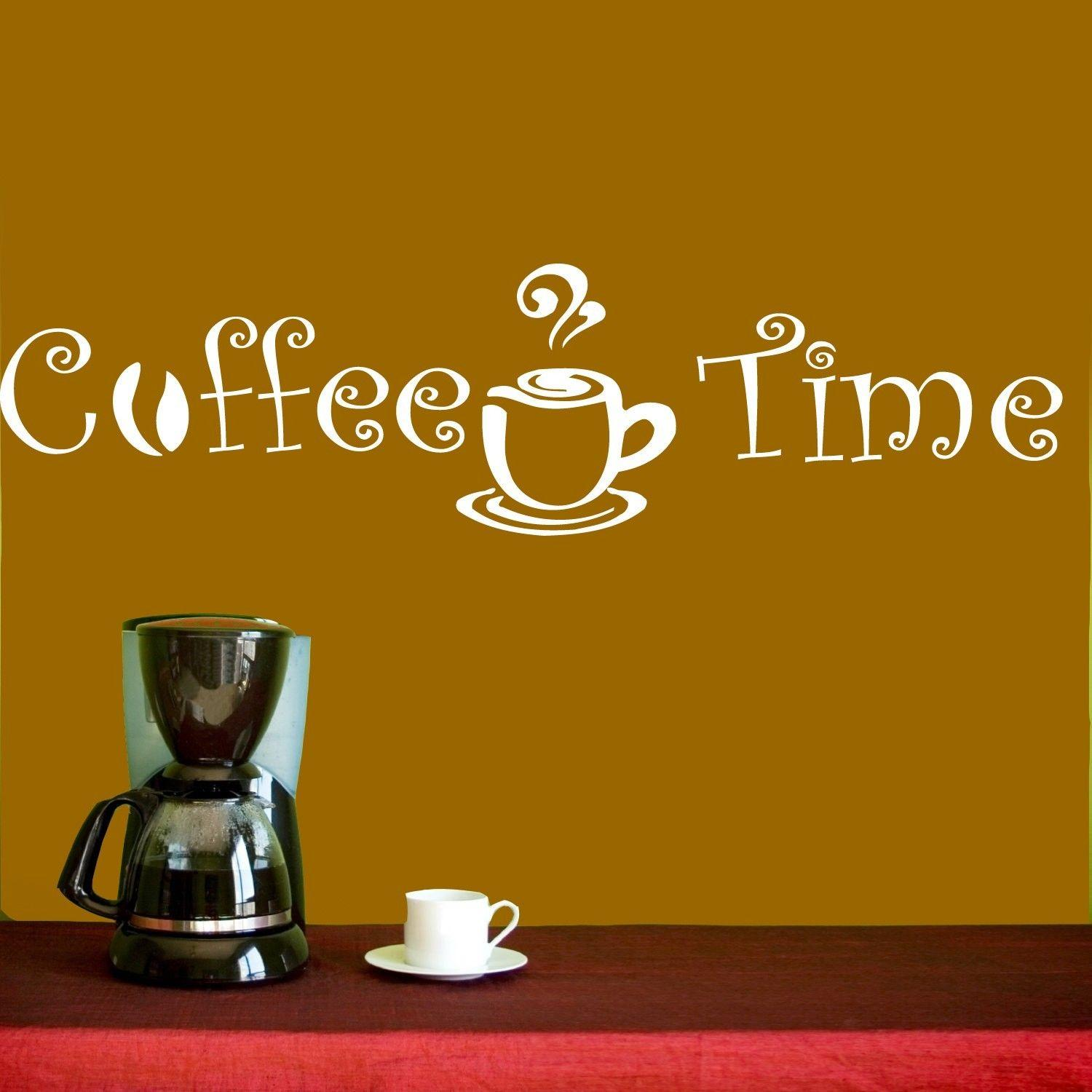 Wall Decal Vinyl Sticker Coffee Shop Cafe Kitchen Quote Coffee - Custom vinyl wall decals coffee