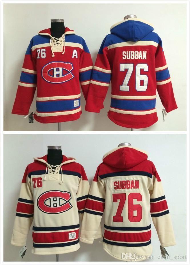 Montreal Canadiens Cheap Ice Hockey Jersey Hoodie  76 P.K. Subban Men S Hockey  Hoodies  Hooded Sweatshirt From Espn sport d43710ebfdd