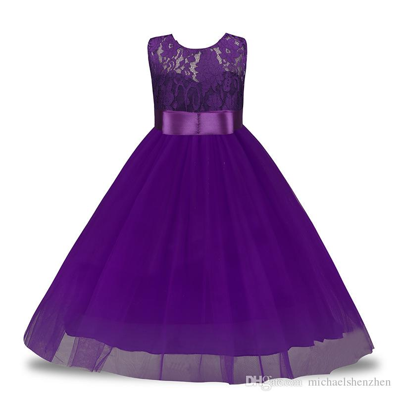Kleine Prinzessin Mädchen Kleider Tutu Spitze Blume Brautkleid Kleid 3-12 T Jahre Geburtstag Outfit Weihnachten Kinder Party Wear