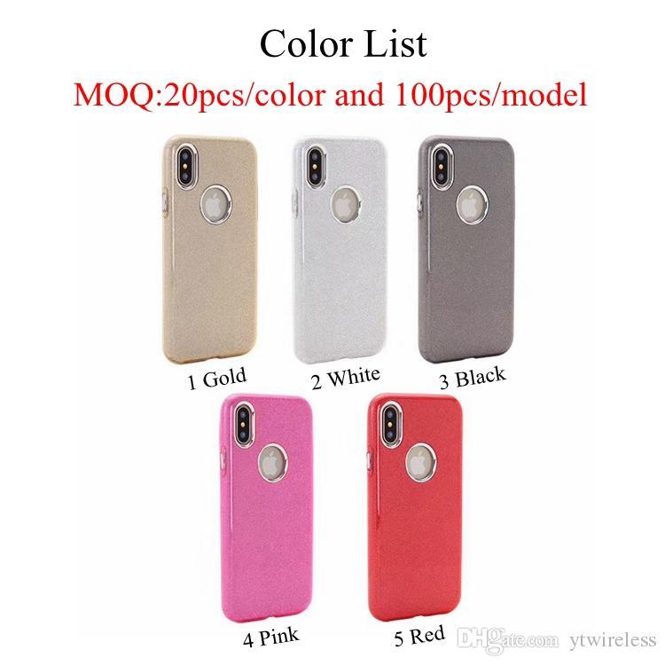 Sparkle Bling Glitter Three Layer Tpu Pc Fashion Phone Case For Samsung J5 J7 J3 Prime 2017 ON5 ON7 2016