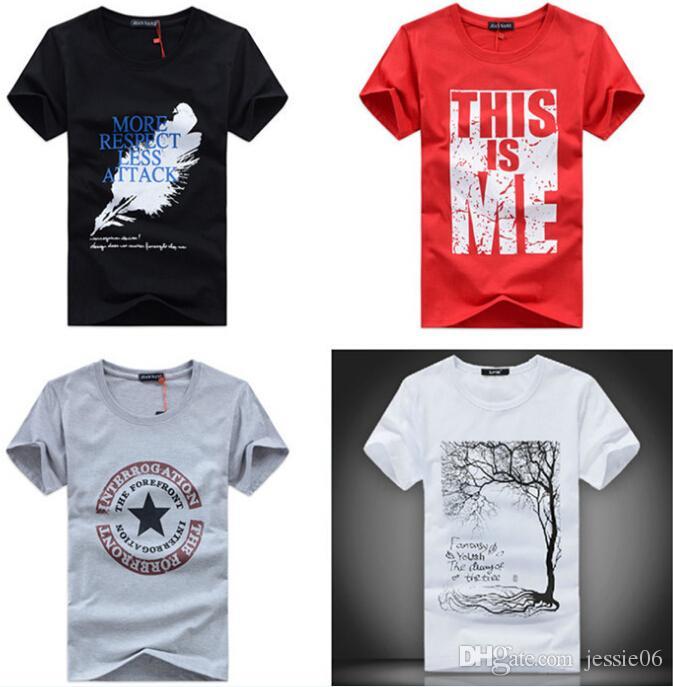 92bc160265bbe Großhandel Männer T Shirts Drucken Mode Männer Frauen Kurze Ärmel Baumwolle  Cartoon T Shirt T Shirts Kleidung Bunt Viele Designs Geschenke Von  Jessie06