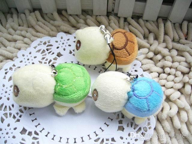 Bulk 6cm Cartoon Small Lovely Tortoise/Turtle Plush Pendants Toys For Key chain/Phone/Bag jewellery accessory gift