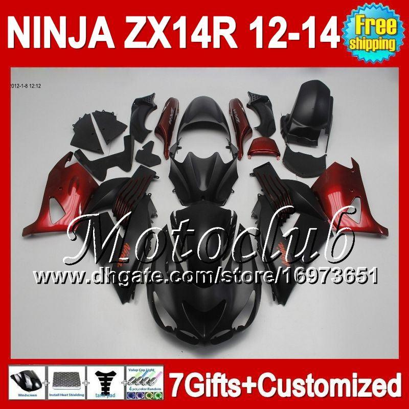 7direcciones para KAWASAKI NINJA ZX-14R 12 13 12 13 ZX14 R Plano negro rojo 25C47 ZX 14R 2012 2013 2012 2013 ZX 14 R Rojo negro ZX14R 12-13 Carenado