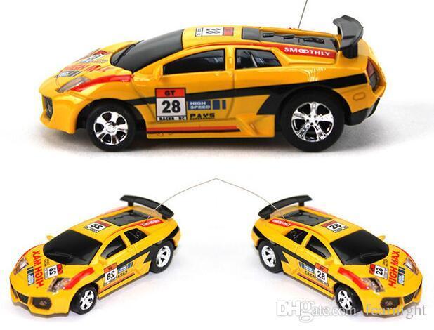 Ücretsiz kargo damla nakliye 5 adet KOK CAN mini rc araba 1:63 yüksek hızlı uzaktan kumanda araba
