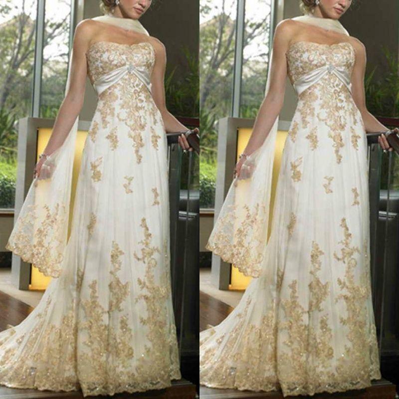 Gold Designer Wedding Gowns