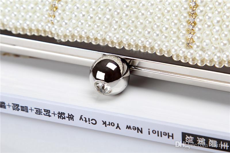 Оптовая / бренд фабрики нового Wellmade довольно алмазы вечером кошелек / вышитый бисером мешок с атласом для свадьбы / банкет / партии / Porm