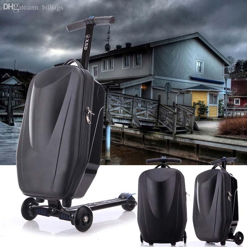 Wholesale Airport Scooter Suitcase Rolling Luggage Carry