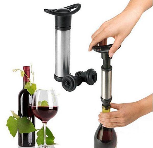 Şarap vakum stoper vakum pompası mühürleyen koruyucu koruyucu silikon şişeler tıpa mantar paslanmaz çelik bar araçları aksesuarları malzemeleri hediye seti