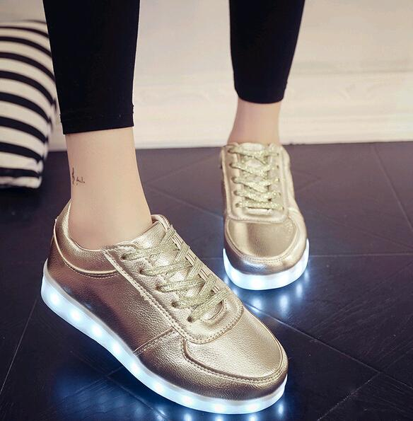 1ea59caf46d2 2016 Fashion Fluorescent LED Shoes USB Charging Light Up Sneakers For Adults  Unisex LED Luminous Shoes Men   Women Casual Shoes High Quality Geox Shoes  ...